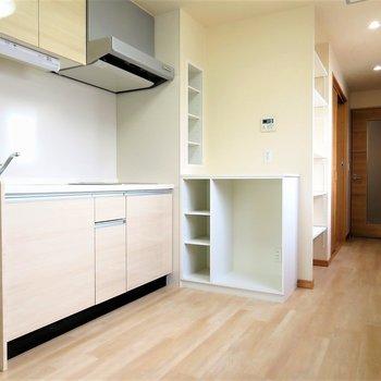 キッチンのカスタマイズ感がたまらん※写真は9階類似間取り・別部屋のものです