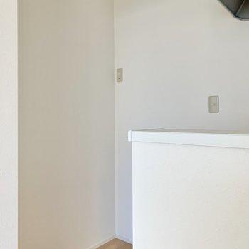 冷蔵庫は後ろへ。※写真は作業途中・前回募集時のものです