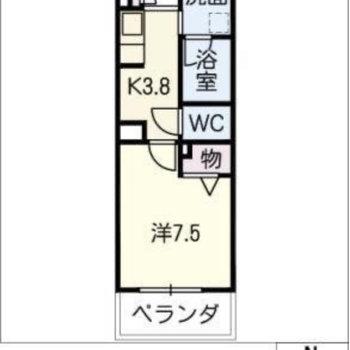 一人暮らしにピッタリの1Kのお部屋。