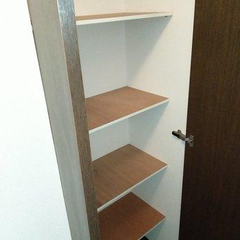 幅広めなので色々な靴を収納しやすい♪(※写真は7階の同間取り別部屋のものです)