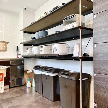 炊飯器やレンジなどいろんな器具がありますね。