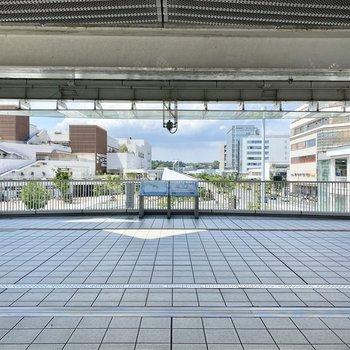 辻堂駅構内。周辺にはショッピングモールや飲食店など様々な店が軒を連ねます。