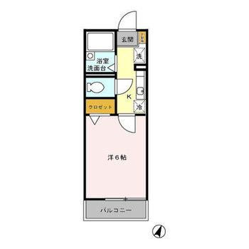 シンプルな1Kのお部屋!