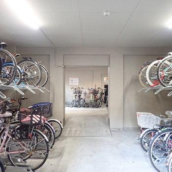 共用部】駐輪場はいくつかありました。