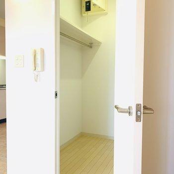 広々としたウォークインクローゼットも(※写真は2階反転間取り別部屋のものです)