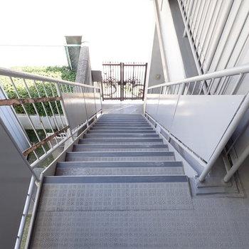 階段で3階まであがると、お部屋の玄関です。