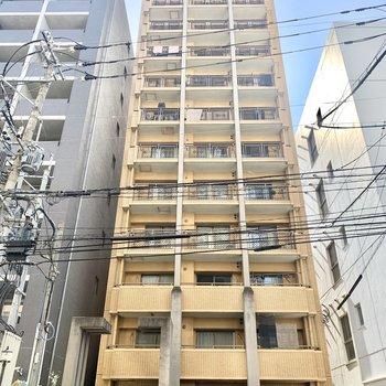 13階建てのノッポなマンションです。