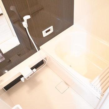 のんびりリラックスできそうな浴室。追い焚き機能・浴室乾燥機つきですよ!