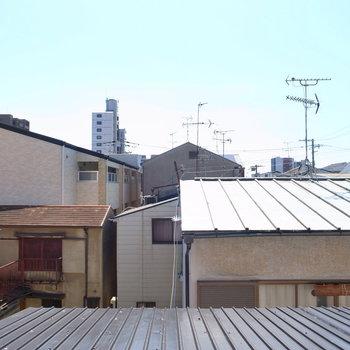 【屋根裏部屋】「屋根裏部屋の眺め」というだけでスペシャルに感じます。空も見えて気持ちいい〜!