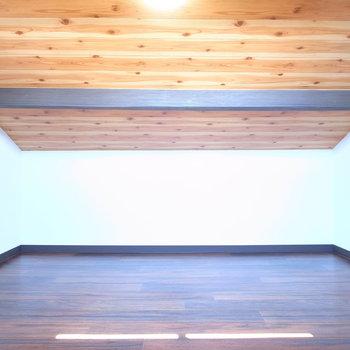 【屋根裏部屋】しっかりとした広さ、明るさ!コンセントも2つありました。高さは、一番高いところで約160cmです。