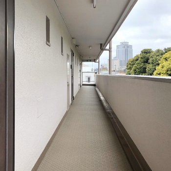 7階廊下の様子。