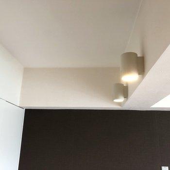 【LDK】クローゼット上部にはスポットライトがあります。※写真はクリーニング前のものです