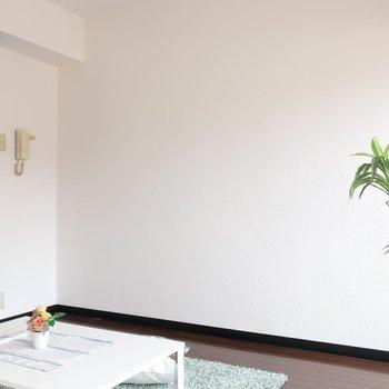 シンプルな壁面も活かしましょ。(※写真は6階の同間取り別部屋、モデルルームのものです)