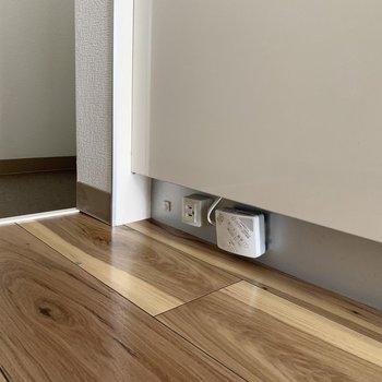 キッチン下にコンセントが。これは便利ですね!