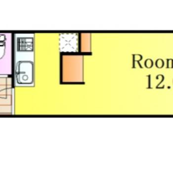 12帖のこのお部屋は見せる収納と隠す収納を上手く使うのがポイントです。