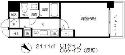 エスリード大阪城 の間取り