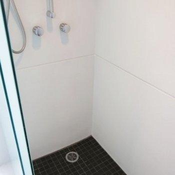 お風呂はシャワーブースのみ(※写真は7階の同間取り別部屋のものです)