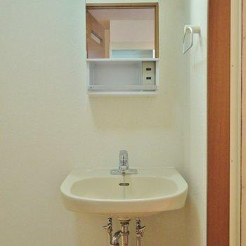 独立洗面台はメイク、コンタクトなどする人には有り難い♪※写真は同タイプの別室