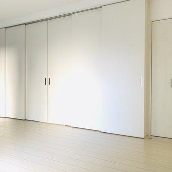 一面の扉...怪しい... (※写真は1階の同間取り別部屋のものです)