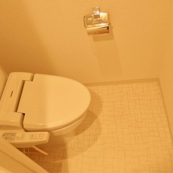 清潔かつ落ち着く独立トイレ(※写真は3階の反転間取り別部屋のものです)