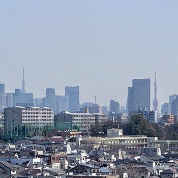 【上階】よーく見ると、東京タワーとスカイツリーが!