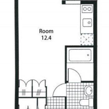 広めのワンルームでゆったり1人暮らし。