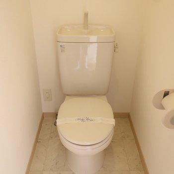 トイレもシンプルで清潔感があります