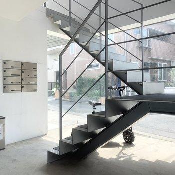 浮遊感のある階段です。