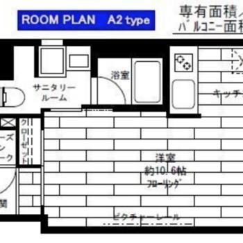 居室の広い1Rです。