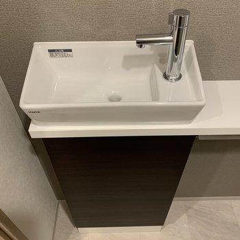 すぐ手を洗えるのはいいですね。