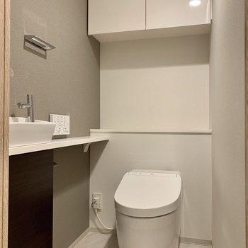 トイレはゆったりとした個室。
