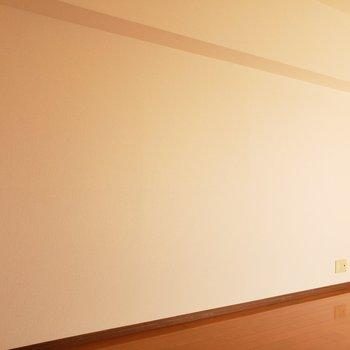こっち側にテレビを置こうかな!(※写真は5階反転間取り別部屋のものです)