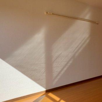 壁に備え付けの壁掛けは使えそう!(※写真は5階反転間取り別部屋のものです)