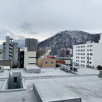 眺望はこちら!円山ですよ!!