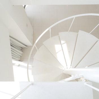 さあ2階へ。