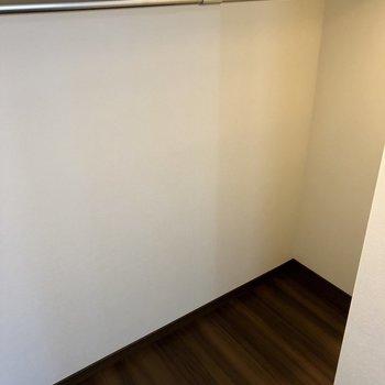 置くまで続いており、収納力があります。※写真は6階の同間取り別部屋のものです