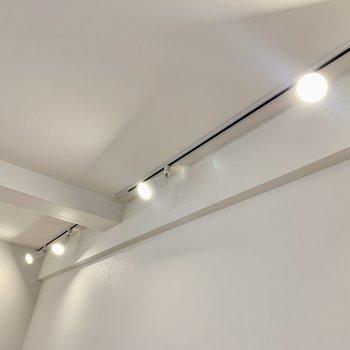 両サイドの壁にはライティングレール。
