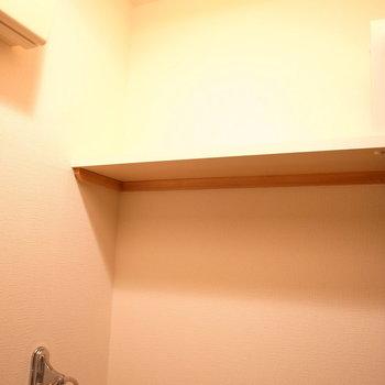 頭上には収納棚がありました。