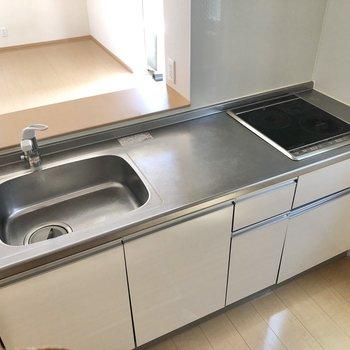 【LDK】IHの2口コンロでお掃除も簡単に。