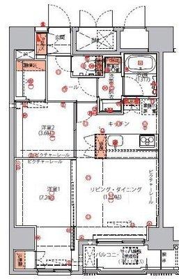 ハーモニーレジデンス東京イーストコア#004 の間取り