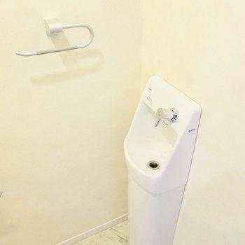しかも手洗い器まで!サッと手を洗えるのが嬉しい。