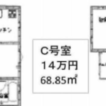 2階建ての戸建てです!間取りは意外とシンプル。