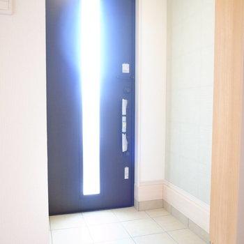 ゆとりのある玄関です。左側は、