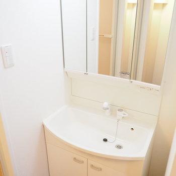 大きめの洗面台!※写真は同間取り別部屋です