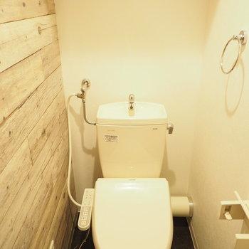 トイレもオシャレ。※写真は同間取り別部屋です