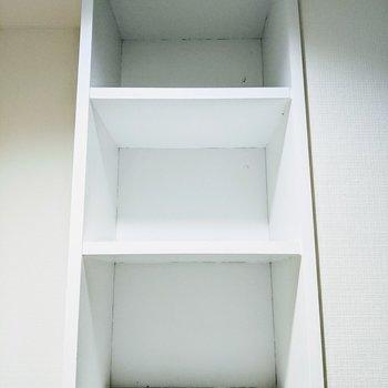 シューズボックスは3段。収納ツールを使って工夫できそう。