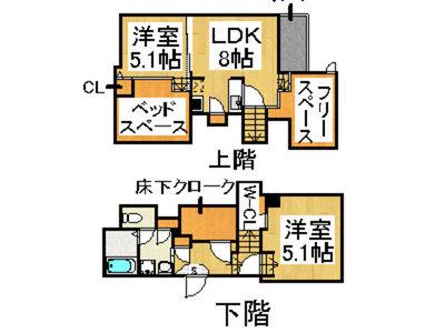 コンフォートベネフィスデュオ吉塚駅前 の間取り