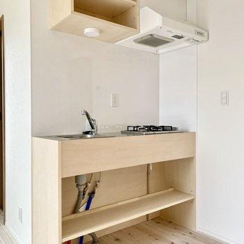 オープンな雰囲気のキッチン。