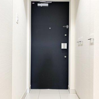 清潔感のある玄関口。