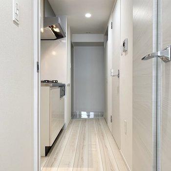 清潔感のある廊下です。